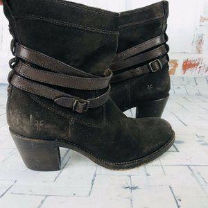 FRYE Women's Jane Suede Leather Short Boots 6